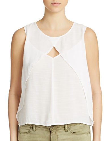Free People Slubbed Crinkle Solid Top White XS
