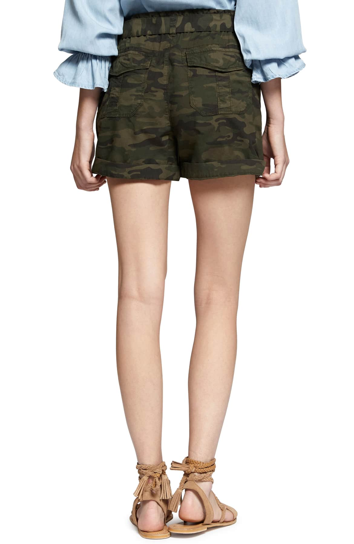 Sanctuary Daydreamer Belted Camo Shorts XS