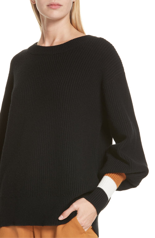 A.L.C. Jasper Lambswool & Cashmere Blend Sweater Black Combo S
