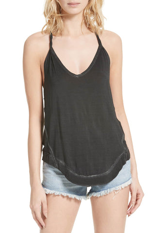 Maison Jules Cotton V-Neck Tank Top