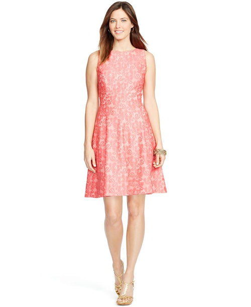 American Living Women's Sleeveless Lace Dress Light Pink 12