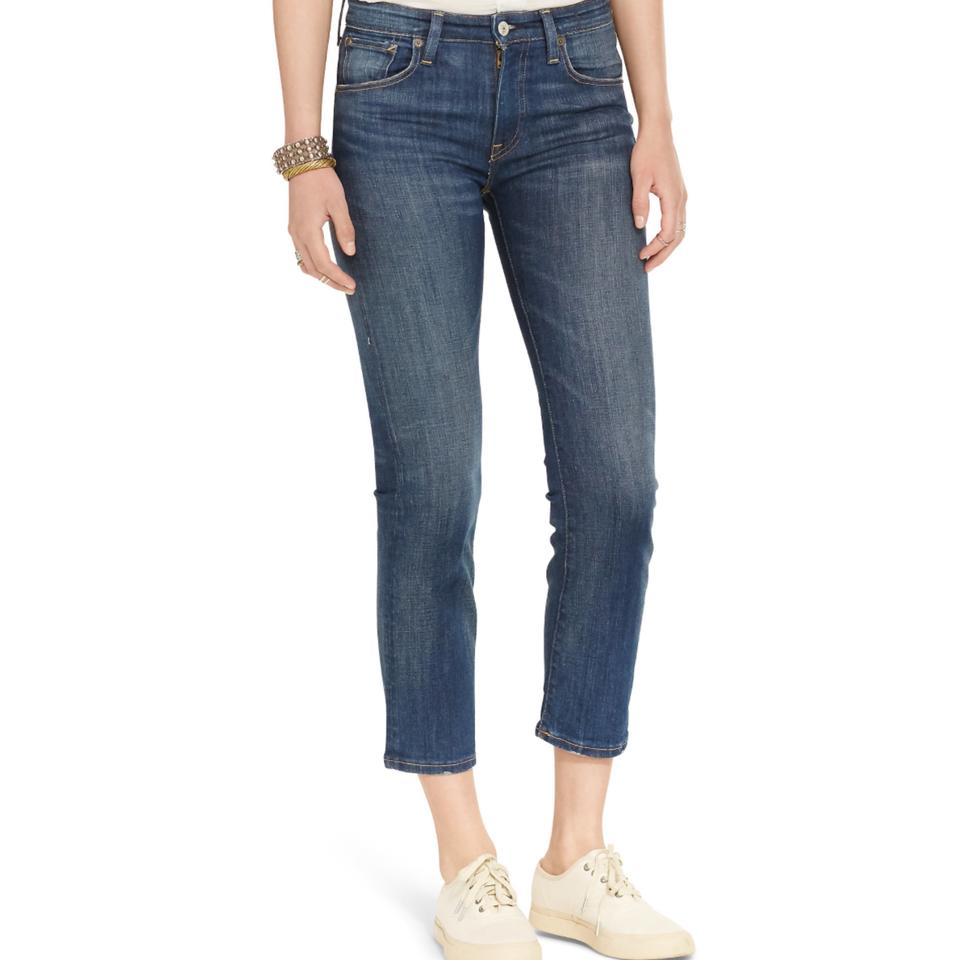 Denim & Supply Ralph Lauren Women's Kenmore Cropped Flared Blue Denim