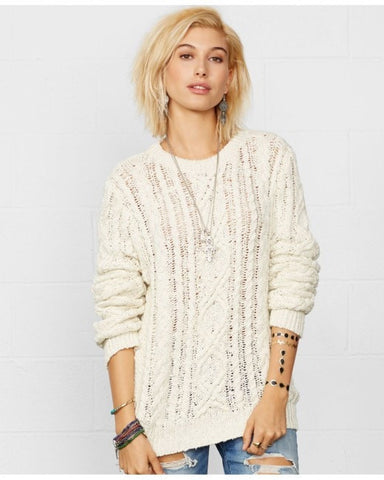 Denim & Supply Ralph Lauren Embroidered Gauze Tunic Antique Cream