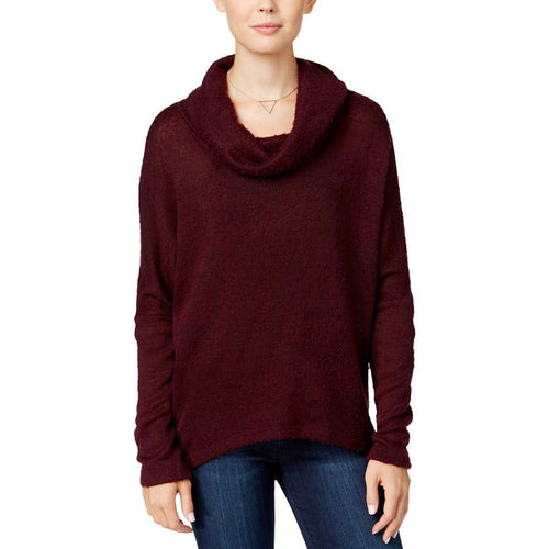 Bar III Cowl-Neck Snit Top Deep Merlot - Gear Relapse