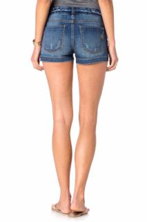 Miss Me Braided-Trim Denim Shorts Medium Blue 24
