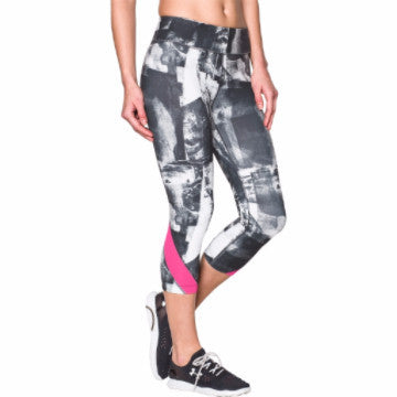 Under Armour Take-A-Chance Printed Capris Grey Combo XS