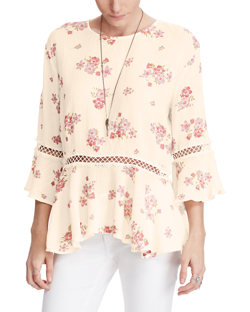 Denim & Supply Ralph Lauren Cotton Floral-Print Blouse Josephine Floral Multi