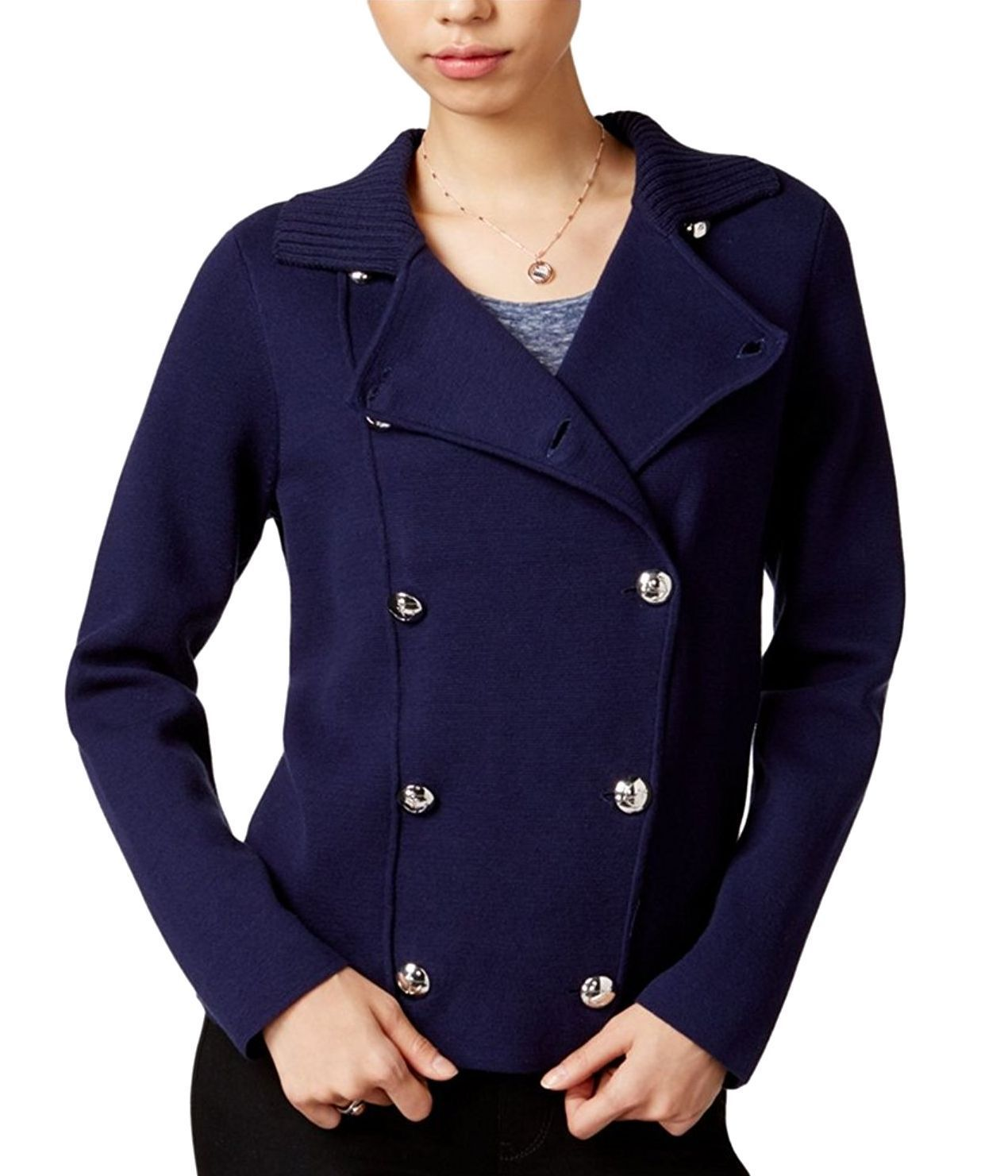 Maison Jules Double-Breasted Sweater Jacket Blu Notte XXS