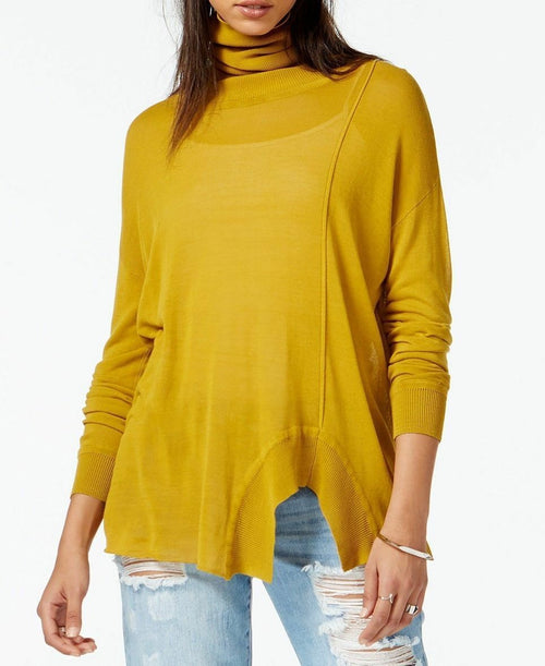 Rachel Roy Women's Long-Sleeve Turtleneck Pullover Top Olive XS