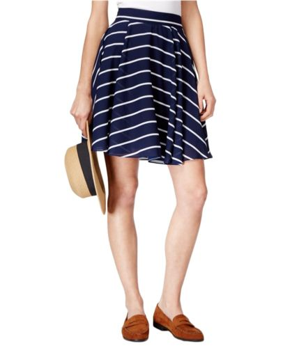 Maison Jules Striped Circle Skirt Blu Notte Combo S