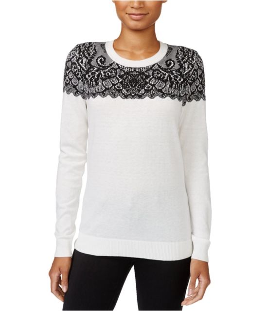 Maison Jules Women's Long Sleeve Sweater Egret Combo M