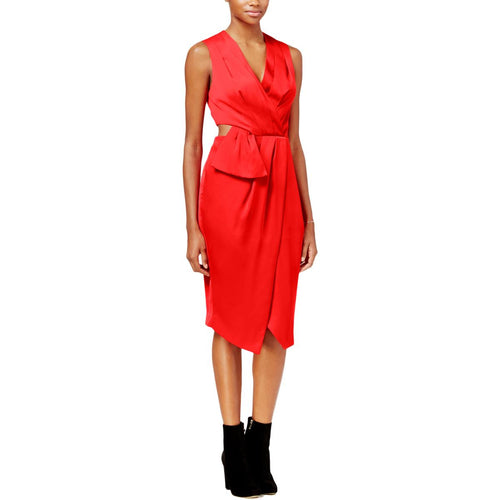 RACHEL Rachel Roy Cutout Faux-Wrap Dress Passion 8