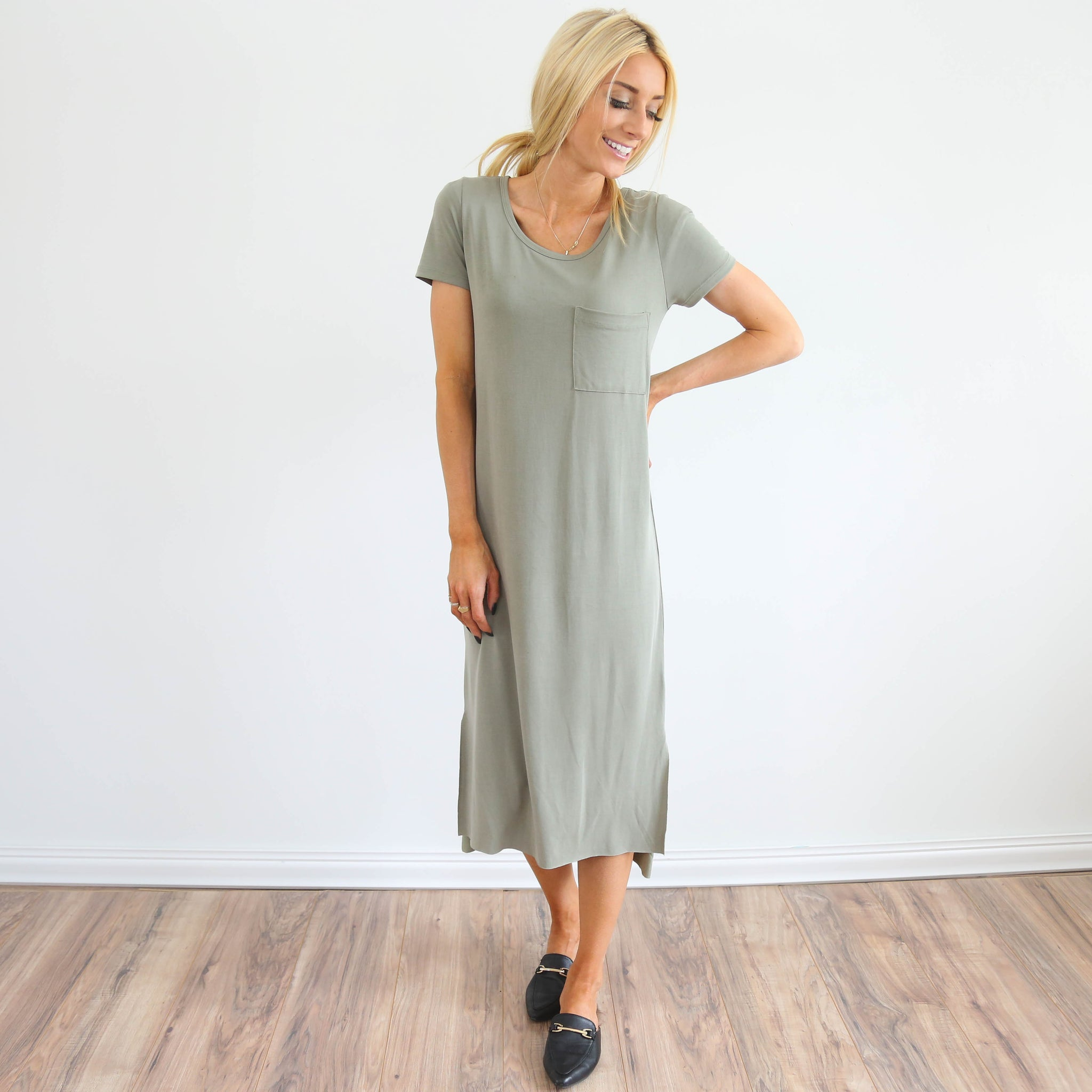 Remy Maxi in Smoke Green