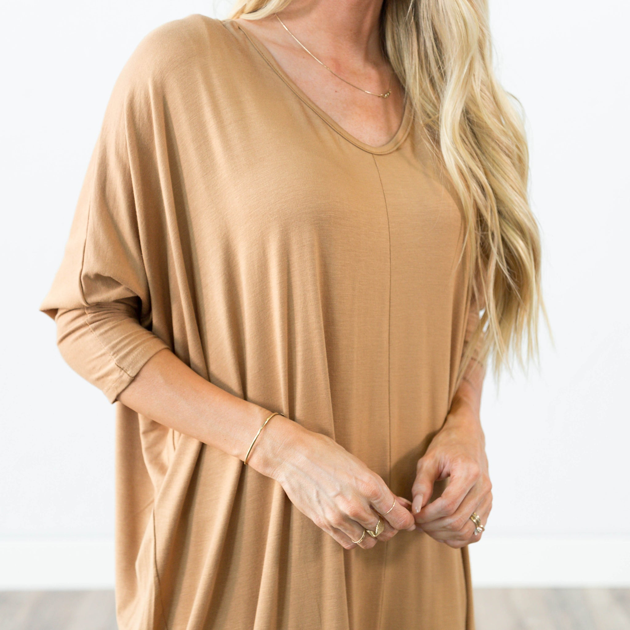 Elayna Dress in Camel