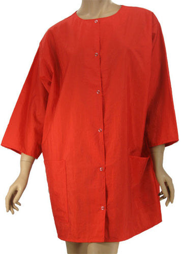 Plus Size Red Nylon Cosmetology Jacket
