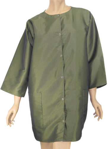 Hairdresser Smock Green Sage Medium Weight One Size Plus Size