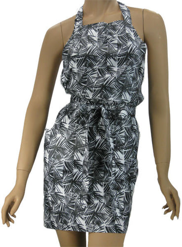 Black And White Bamboo Print Hair Styling Apron