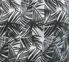 Black And White Bamboo Print Fabric Swatch