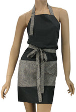 Stylish Salon Apron In Black With Weave Trim