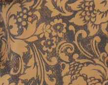 Full Figured Hair Stylist Jacket Fleur De Lys Print Swatch