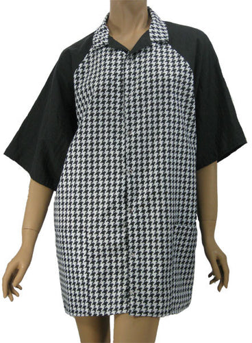 Houndstooth Unisex Stylist Hair Salon Groomer Shirt Medium