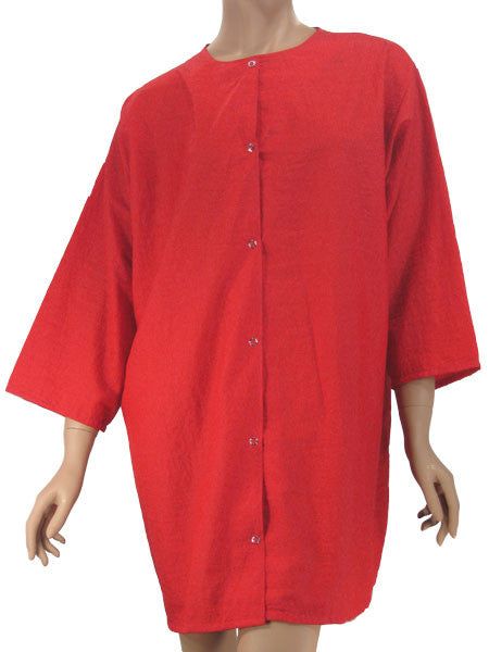 Plus Size Pocket Free Red Stylist Jacket