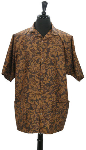 Unisex Stylist Salon Shirt Fleur De Lys Print Medium