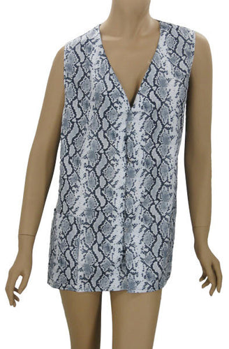 Plus Size Python Hair Salon Stylists Vest
