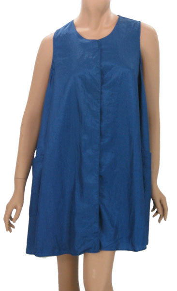 Stylist Smock In Lightweight Royal Nylon