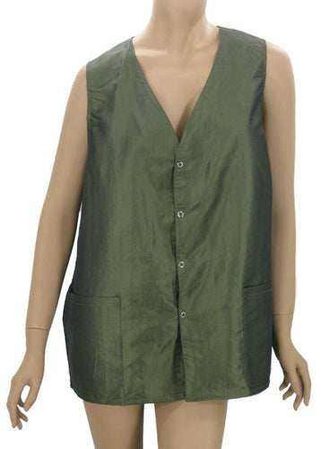 Plus Size Hair Dressers Salon Vest Sage