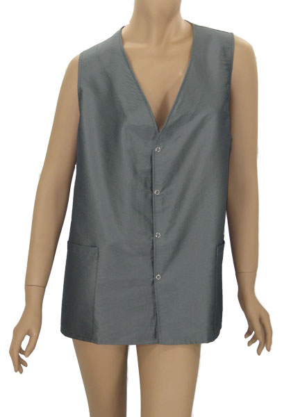 Salon Stylist Sleeveless Vest In Silver Grey Water Resist Finish