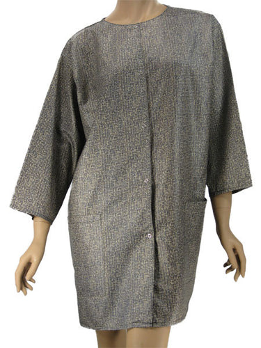 Plus Size Cosmetology Jacket In Weave Print