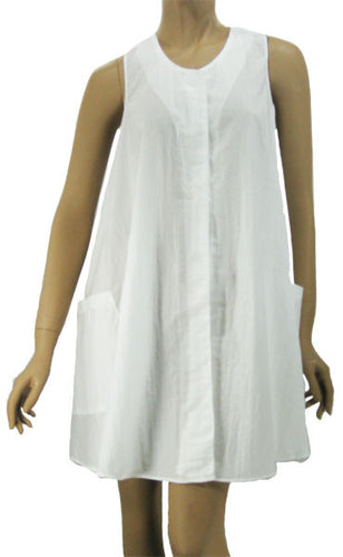 White Esthetician Salon Spa Swing Smock
