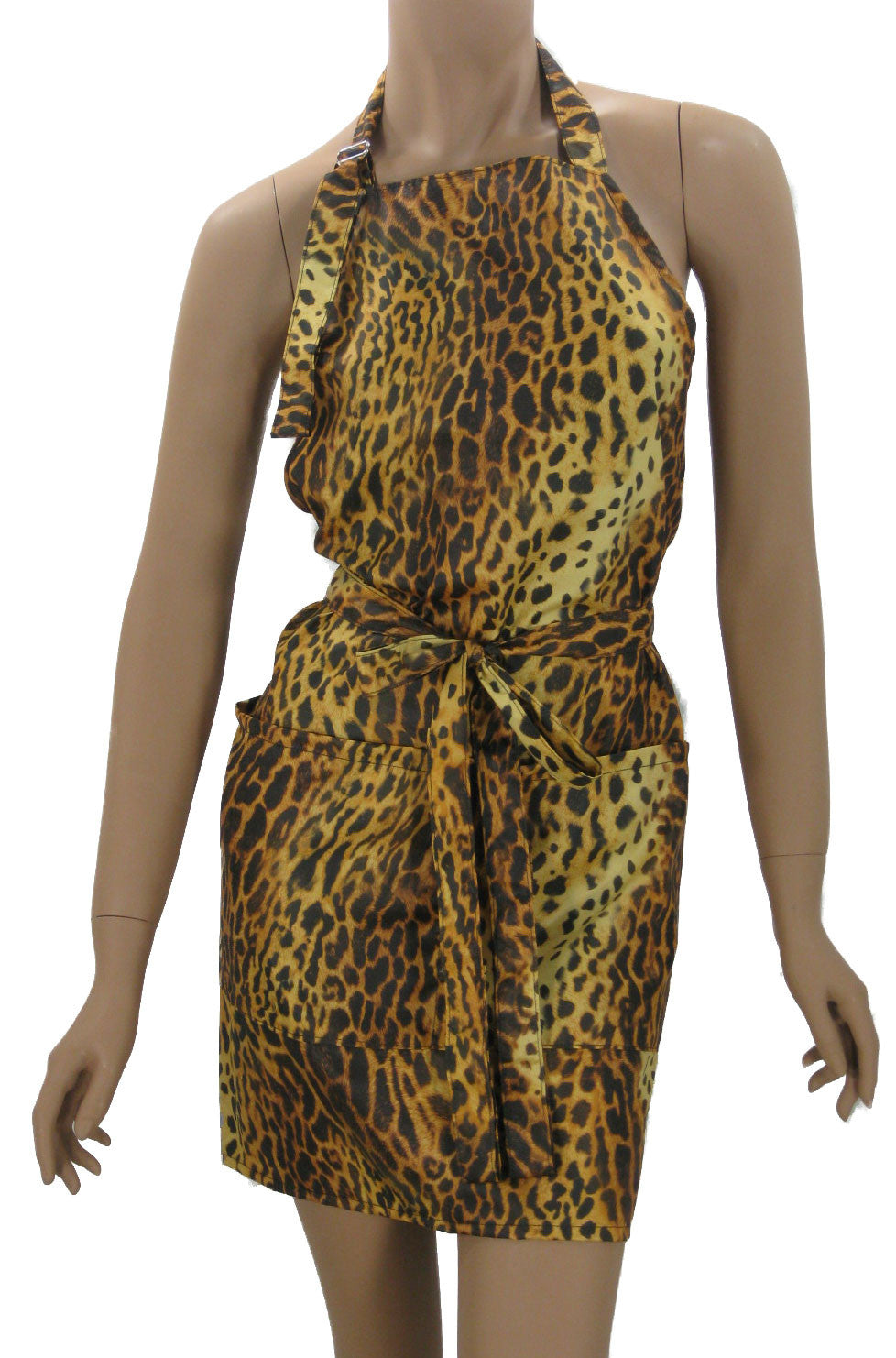 cheetah hair stylist salon apron