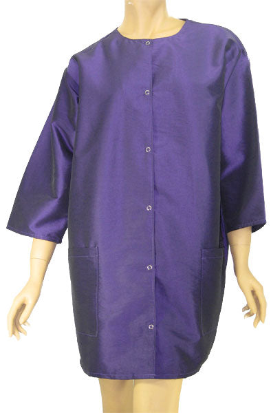 Hair Cutting Smock Purple Jacket Stylist Groomer One and Plus Size
