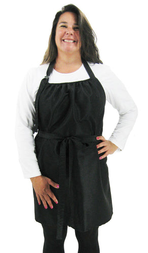 Plus Size Elastic Top Hair Stylist Dog Groomer Apron Black