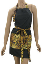 Funky Salon Apron In Cheetah And Black