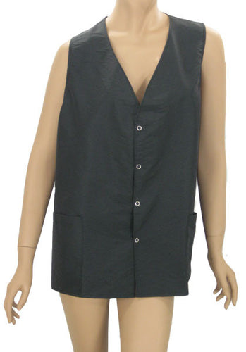 Plus Size Hair Cutting Vest In Black Shimmer