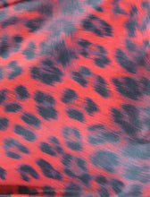 Red Leopard Fabric Swatch