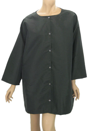 Plus Size Hair Stylist Salon Jacket In Black Shimmer