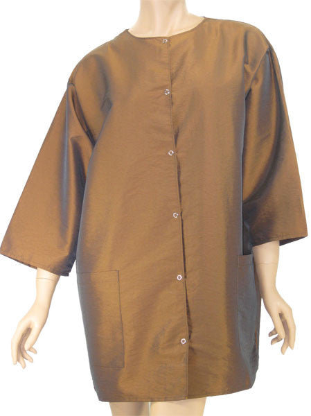 Plus Size Hair Stylist Jacket In Earth Color