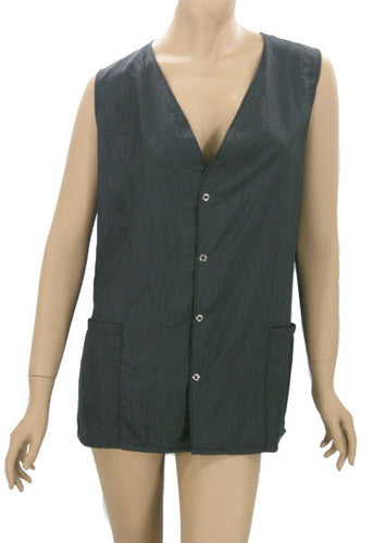 Plus Size Black Hair Stylists Vests