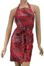 Red Leopard Designer Salon Apron