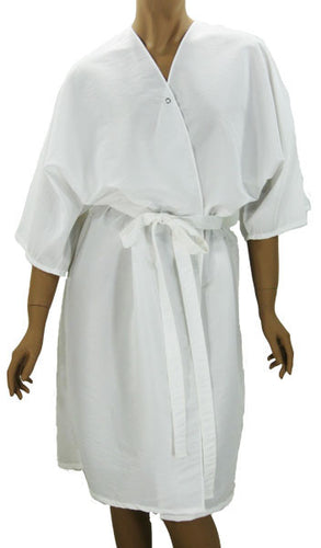 Client Robes White Shimmer For Salons Spas