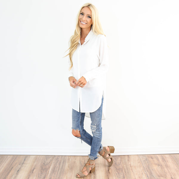 Essential Ivory Button Up