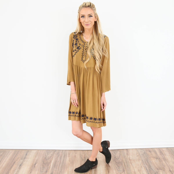 Belles Embroidered Dress