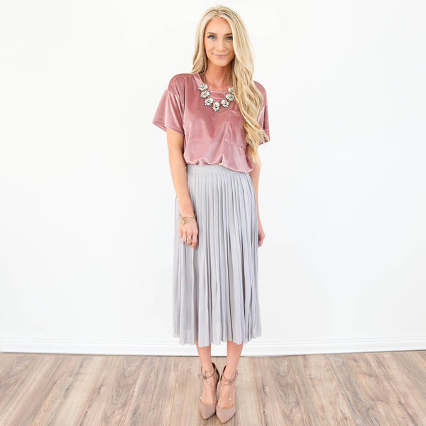 Marian Pleated Skirt