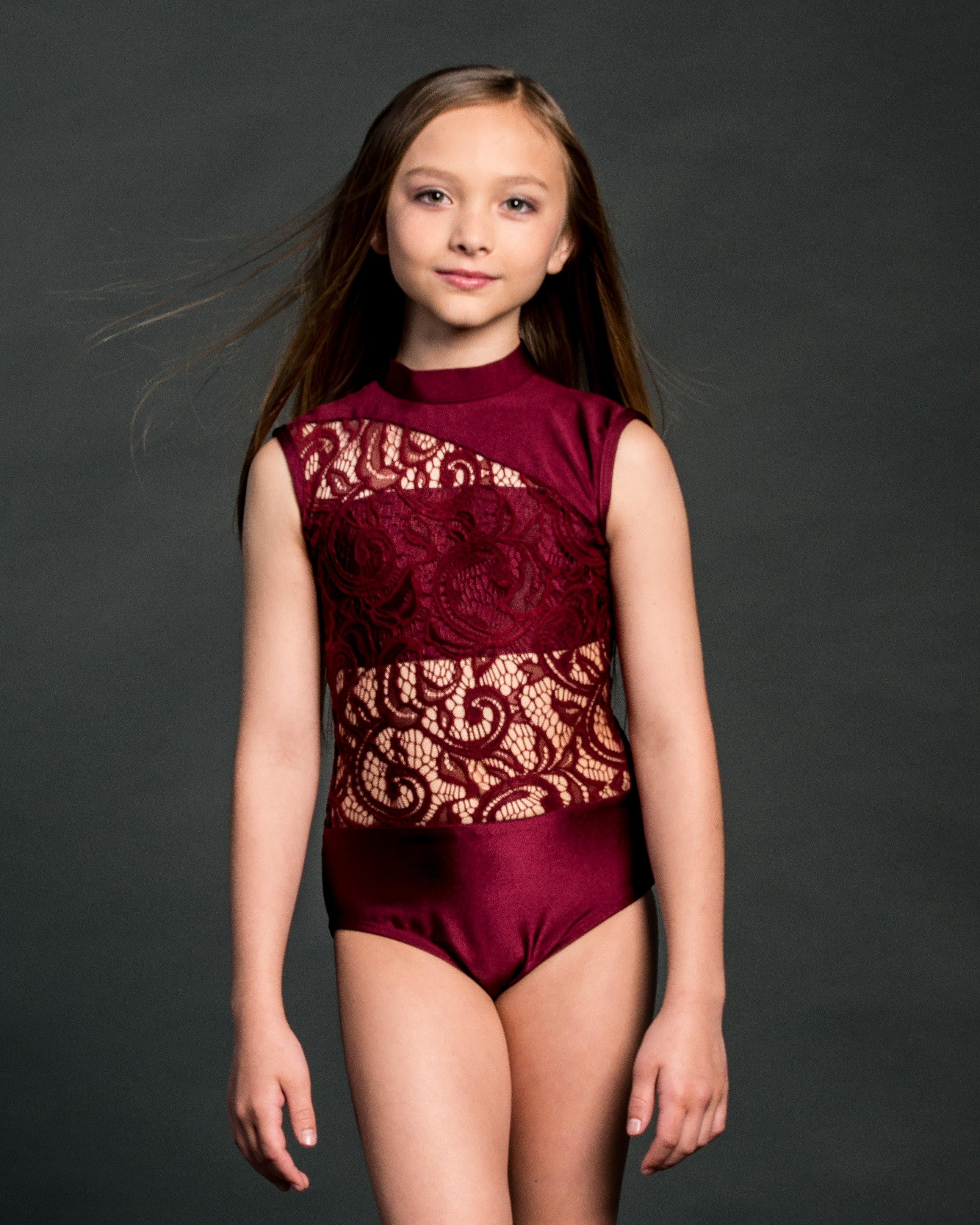 CARLY CHILD LEOTARD LACE
