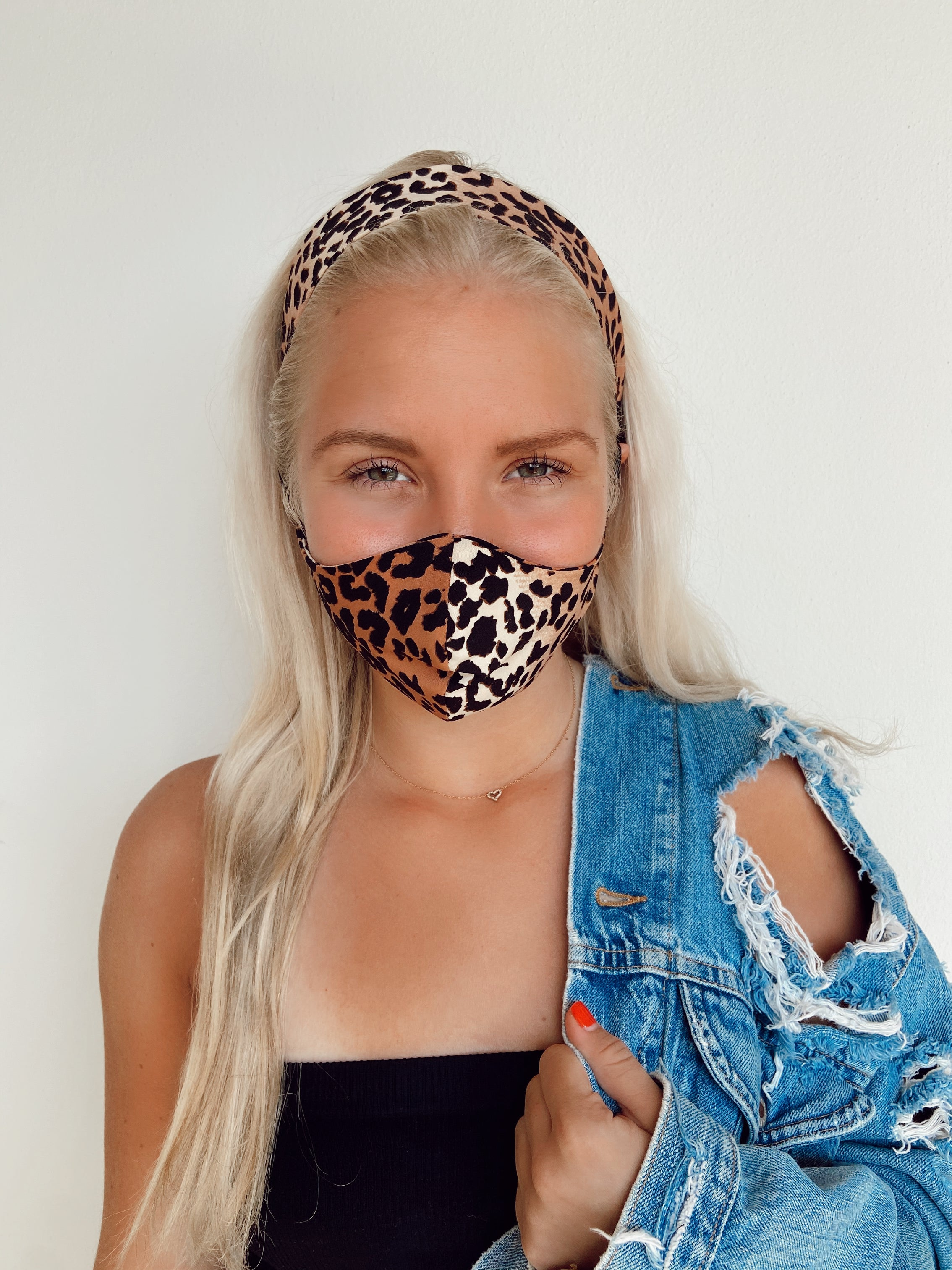 A-CHILDREN (7 and under) HEADBAND AND MASK SET