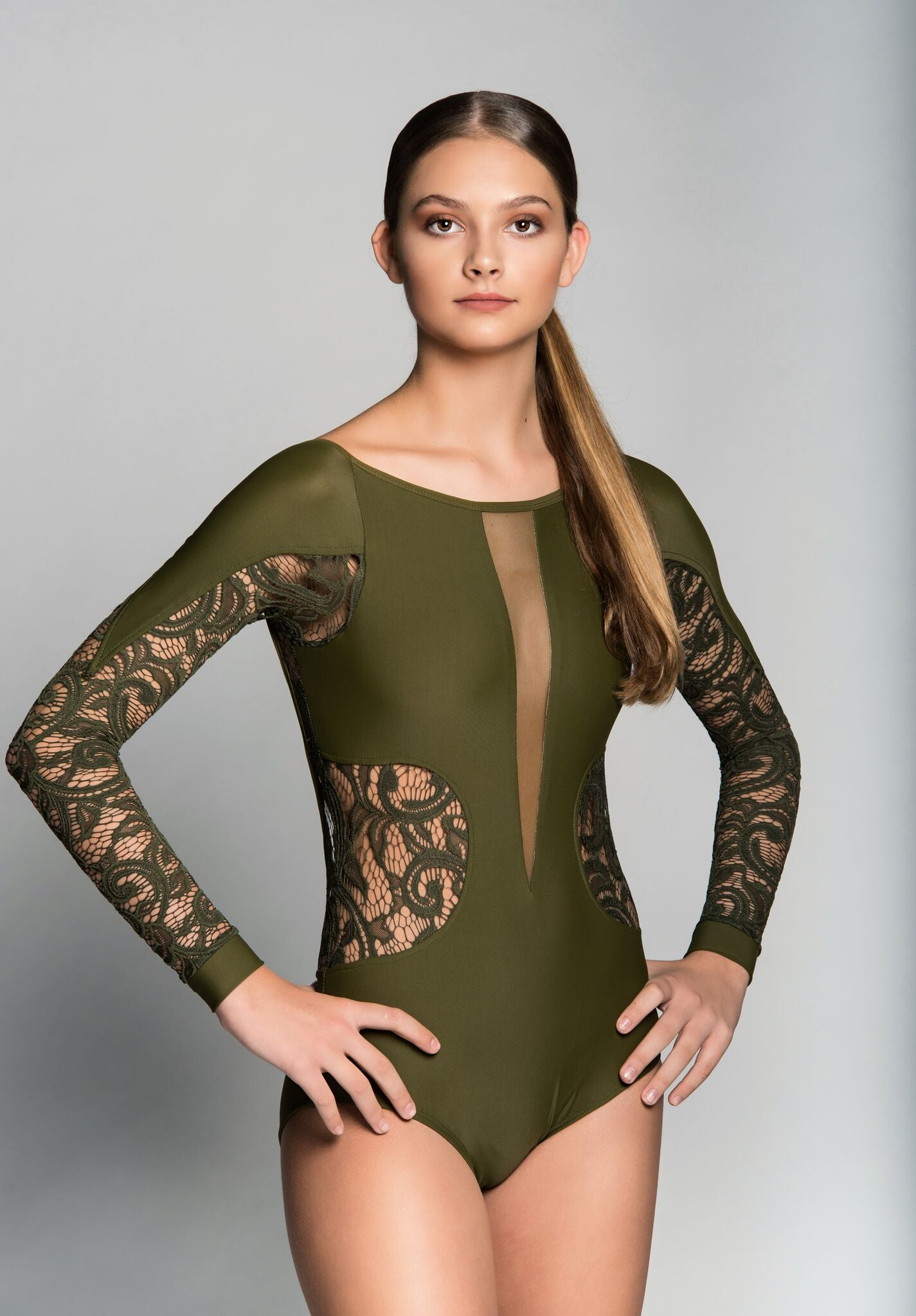 KATHERINE ADULT LEOTARD WITH LACE